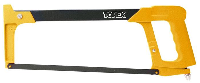 Ножовка по металлу Topex, 30 см 10A13510A135Ножовка Торех предназначена для ручного распила металлических материалов при помощи ручного ножовочного полотна. Ножовка выполнена из алюминиевого сплава и закаленной инструментальной стали. Сменное ножовочное полотно можно устанавливать под углом 45 градусов. Ножовка имеет полость для хранения запасных полотен (в комплект не входят).