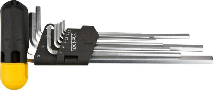 Набор ключей шестигранных Topex, 1,5-10 мм, 9 шт. 35D962
