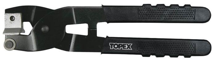 Кафелерезка ручная Topex, 21 см16B430Кафелерезка Торех используется для ручного разрезания стекла или кафельной плитки с помощью прочного твердосплавного ролика. Надлом осуществляется за счет очень прочной металлической губки. Прорезиненные рукоятки исключают скольжение инструмента в руках.