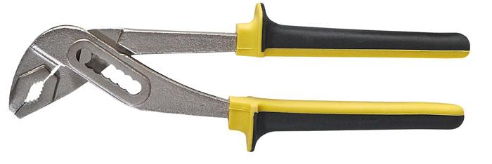 Клещи переставные Topex 32D139, 250 мм32D139Клещи переставные предназначены для отворачивания, заворачивания и фиксации крепежа, различного по форме и имеющего размеры от 10 до 45 мм. Клещи переставные могут быть использованы в качестве разводного или трубного ключа, увеличенная рабочая поверхность ручек значительно снижает давление на кисть руки и уменьшает опаность появления травм.