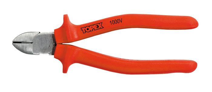 Бокорезы Topex 160 мм, до 1000 В32D517Бокорезы Topex предназначены для резки провода из меди, алюминия и других цветных металлов. Изделие изготовлено из инструментальной стали и оснащены удобными эргономичными рукоятками. Режут провода под напряжением до 1000 В.