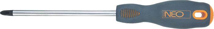 Отвертка крестовая Neo, PН2 x 100 мм04-024Отвертка крестовая Neo предназначена для монтажа/демонтажа резьбовых соединений. Имеет удобную эргономичную ручку.