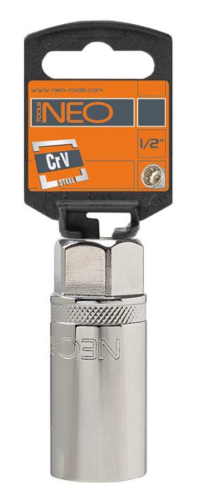 Головка торцевая Neo, свечная с магнитом, 1/2, 21 мм08-091Головка торцевая Neo применяется для монтажа/демлнтажа резьбовых соединений. Станет отличным помощником монтажнику или владельцу авто. Этот инструмент обеспечит надежную фиксацию на гранях крепежа.