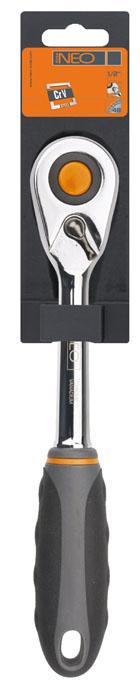 Трещотка Neo, 1/2 08-51008-510Трещотка Neo используется для монтажа/демонтажа различных резьбовых соединений. Корпус трещотки выполнен из хром-ванадиевой стали высокой прочности. Храповик с 48 зубьями.