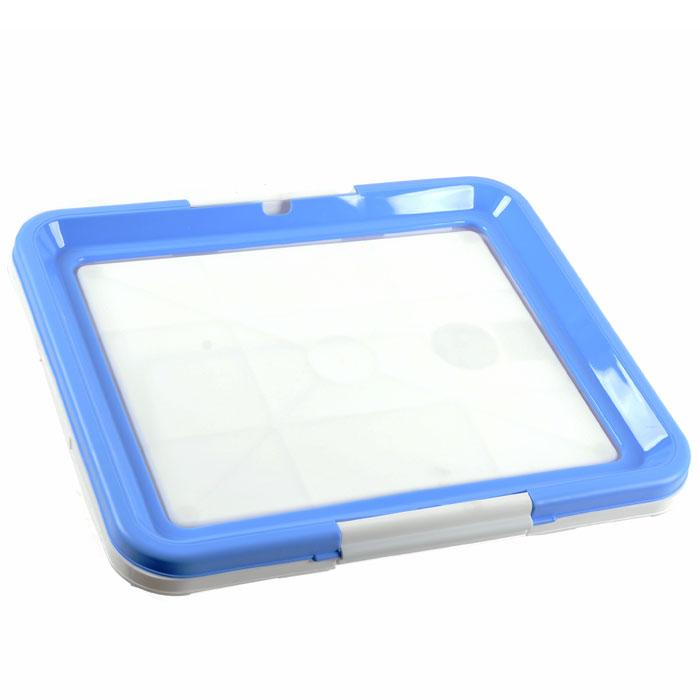 Туалетный лоток для собак Triol, цвет: белый, голубойМт-512 / Р549 голубойТуалетный лоток Triol прямоугольной формы предназначен для маленьких собак комнатных пород, совершающих гигиенические процедуры в помещении. Такой туалет хорошо подойдет для щенков любых пород, еще не научившихся дожидаться выгула, а также будет очень удобен в путешествии. Туалетные лотки очень удобно использовать со впитывающими пеленками. Лоток снабжен фиксаторами, прочно удерживающими пеленку на лотке. Характеристики: Материал: пластик. Размер: 48 см х 42 см х 4 см. Размер упаковки: 49 см х 43 см х 4 см. Производитель: Китай. Артикул: Р549.