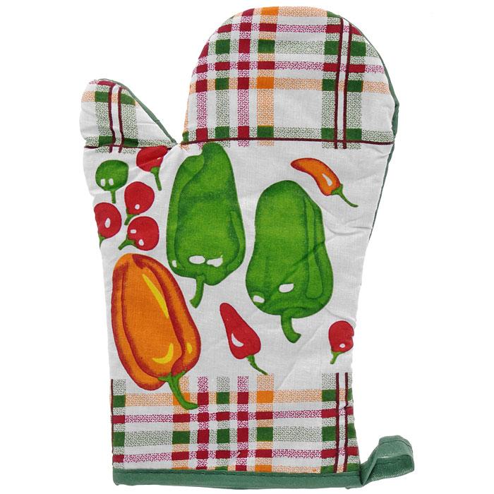 Прихватка-варежка Guten Morgen КантриВК-17-27Прихватка-варежка Кантри, выполненная из полиэстера и хлопчатобумажной ткани, является незаменимым атрибутом на кухне. Прихватка декорирована изображением перцев и томатов. С помощью специальной петельки прихватку можно подвесить в удобном для вас месте. Характеристики: Материал: 50% полиэстер, 50% х/б. Размер: 26,5 см х 17 см. Изготовитель: Китай. Артикул: ВК-17-27.