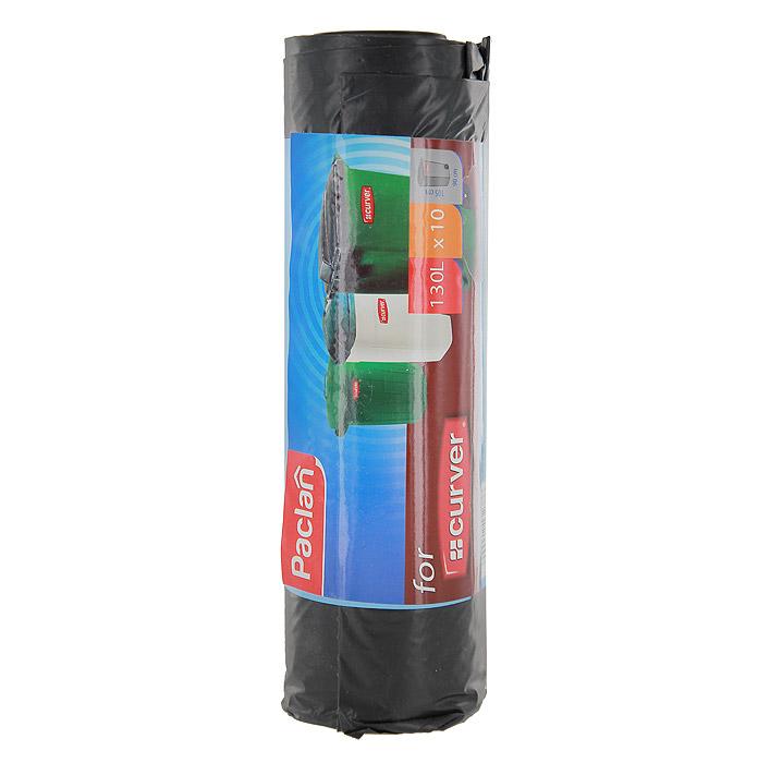 Пакеты для мусора Curver, цвет: черный, 130 л, 10 шт134790Пакеты для мусора Curver изготовлены из очень прочного хозяйственного полиэтилена. Они предназначены для вывозки и утилизации скопившего мусора.