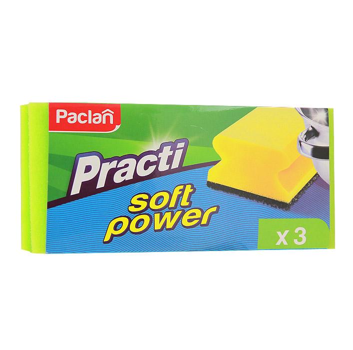 Набор губок Soft Power для мытья посуды, с захватом, 3 шт135520Набор Aisen включает в себя три губки для мытья посуды со специальным покрытием. Губки имеют захват, благодаря которому удобнее держать губки, не повреждая ногти. Характеристики: Материал: поролон, сетчатый полиуретан. Комплектация: 3 шт. Размер губки: 9,5 см х 7 см х 4,5 см. Размер упаковки: 14 см х 11,5 см х 3,5 см. Артикул: 135520.