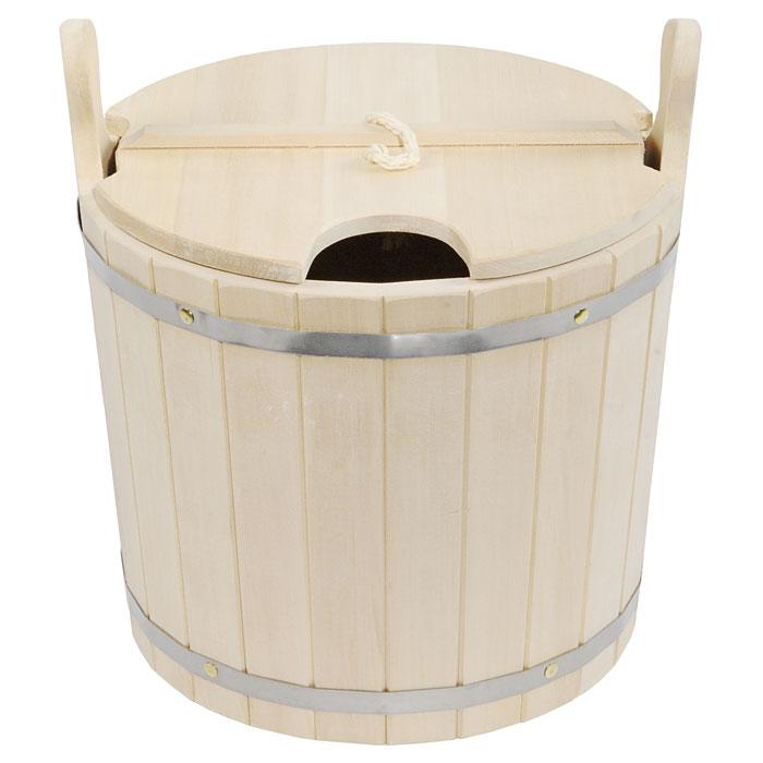 Запарник Банные штучки, с крышкой, 15 л03592Запарник Банные штучки, изготовленный из липы, доставит вам настоящее удовольствие от банной процедуры. При запаривании веник обретает свою природную силу и сохраняет полезные свойства. Корпус запарника состоит из стянутых металлическими обручами клепок. Запарник оснащен деревянной крышкой с отверстием для веника и ручкой из веревки. Интересная штука - баня. Место, где одинаково хорошо и в компании, и в одиночестве. Перекресток, казалось бы, разных направлений - общение и здоровье. Приятное и полезное. И всегда в позитиве. Высота запарника (без ушек): 30 см. Высота запарника (с ушками): 39 см. Диаметр запарника по верхнему краю: 35,5 см.
