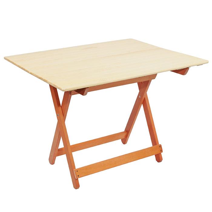 Стол складной для бани и сауны Банные штучки, большой, цвет: светлое дерево32185Деревянный складной стол Банные штучки, выполненный из натурального дерева сосны, прекрасно подойдет для бани или сауны. Стол имеет компактные размеры и легко устанавливается.