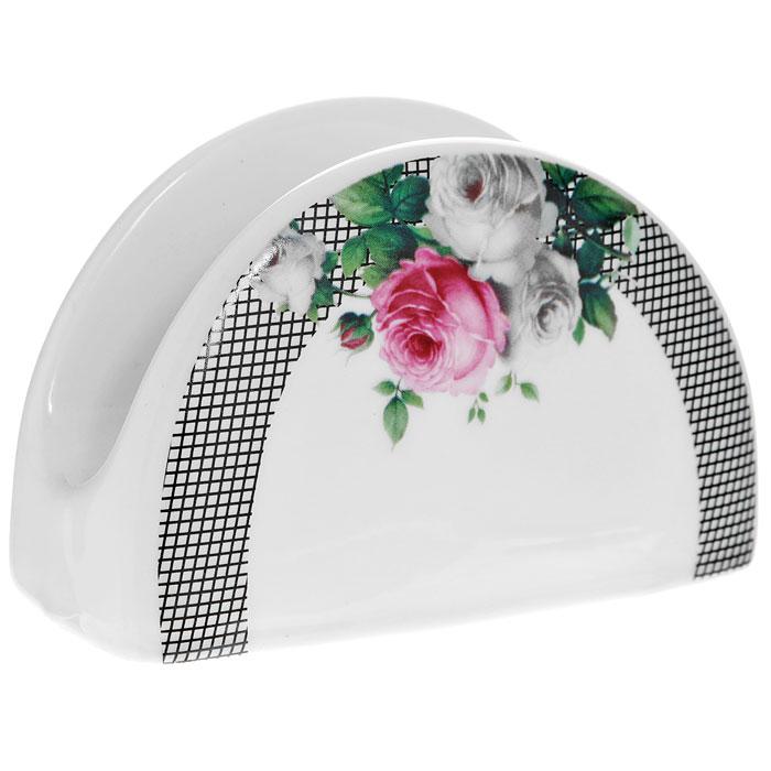 Салфетница Сафир, цвет: белый222161BСалфетница Сафир, выполненная из высококачественного фарфора, оформлена изображением букета роз. Такая салфетница прекрасно подойдет для вашей кухни и великолепно украсит стол. Оригинальная салфетница Сафир станет отличным подарком для друзей и близких.