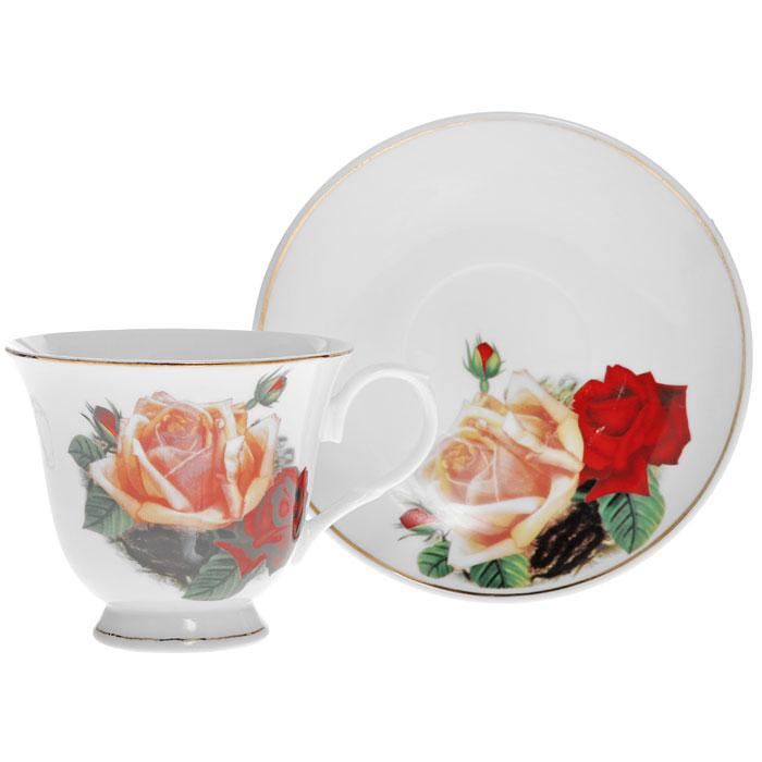Чайная пара Поллианна, 2 предметаLIL 91032Чайная пара Поллианна изготовлена из высококачественного фарфора и декорирована красочным рисунком с изображением красной и желтой розы, сочетает в себе изысканный дизайн с максимальной функциональностью. Красочность оформления придется по вкусу ценителям утонченности и изысканности. Оригинальный рисунок придает набору особый шарм, который понравится каждому.