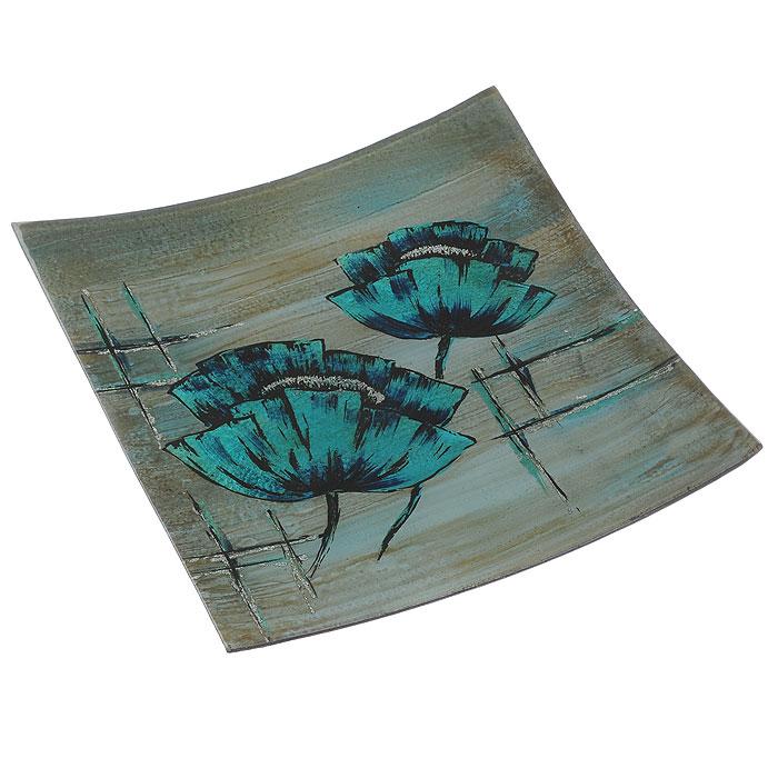 Блюдо Lillo Glass, цвет: бирюзовый, синий, 33,5 х 33 х 3,5 см4601137130156Блюдо Lillo Glass, изготовленное из стекла, оформлено изображением бирюзовых цветов и серебристых блесток. Такое блюдо сочетает в себе изысканный дизайн с максимальной функциональностью. Красочность оформления придется по вкусу тем, кто предпочитает утонченность и изящность. Оригинальное блюдо украсит сервировку вашего стола и подчеркнет прекрасный вкус хозяйки, а также станет отличным подарком. Характеристики: Материал: стекло. Цвет: бирюзовый, синий. Размер блюда: 33,5 см х 33 см х 3,5 см. Размер упаковки: 34 см х 33,5 см х 4,5 см. Артикул: 4601137130156.