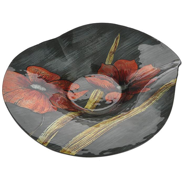Блюдо Lillo Glass, цвет: серый, оранжевый, 38 х 37 х 9 см213059Блюдо Lillo Glass, изготовленное из стекла, оформлено изображением оранжевых цветов с серебристыми блестками. Такое блюдо сочетает в себе изысканный дизайн с максимальной функциональностью. Красочность оформления придется по вкусу тем, кто предпочитает утонченность и изящность. Оригинальное блюдо украсит сервировку вашего стола и подчеркнет прекрасный вкус хозяйки, а также станет отличным подарком.