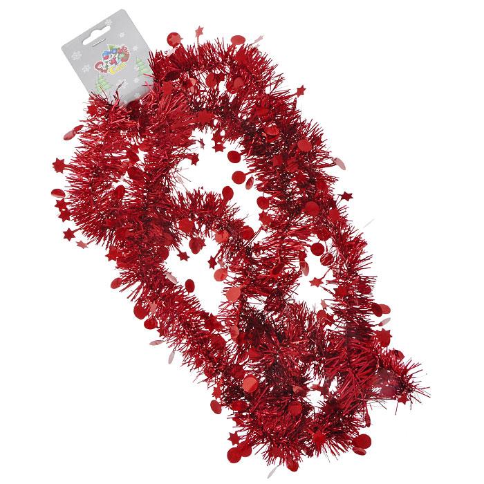 Новогодняя мишура Феерия, цвет: красный , 200 см0266-0012Новогодняя мишура Феерия, выполненная из фольги, поможет вам украсить свой дом к предстоящим праздникам. А новогодняя елка станет наряднее. Новогодние украшения всегда несут в себе волшебство и красоту праздника. Создайте в своем доме атмосферу тепла, веселья и радости, украшая его всей семьей.