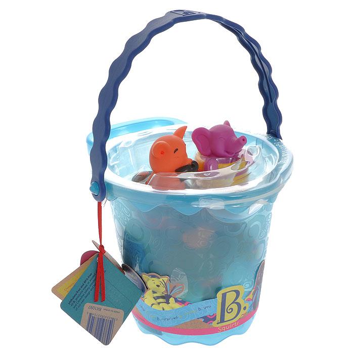 Набор игрушек для ванны Ведерко с животными68640Набор игрушек для ванны Ведерко с животными привлечет внимание вашего ребенка и превратит купание в веселую игру! Набор включает в себя пластиковое ведерко с ручкой, в котором находятся пять забавных зверюшек: слоник в кадушке, поросенок и кот на спасательных кругах, ежик с мячом и черепашка в маске и с трубкой. Игрушки помогут ребенку развить мелкую моторику рук, тактильные ощущения, цветовое восприятие, а милые жизнерадостные образы подарят малышу хорошее настроение!