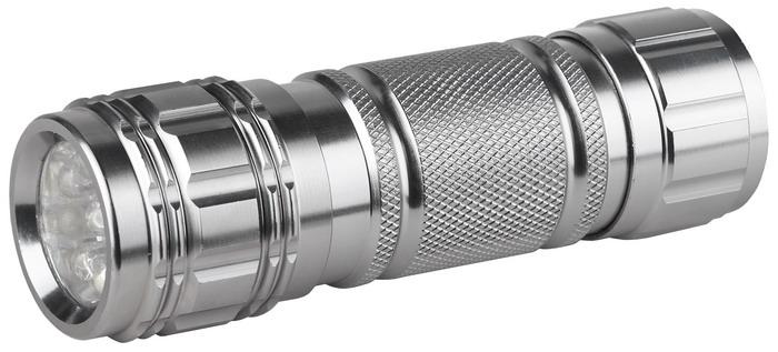 Светодиодный алюминиевый фонарь ЭРА SD9C0027216Светодиодный фонарь ЭРА SD9 имеет прочный ударостойкий корпус из анодированного алюминия, а также оснащен 9 яркими светодиодами. Характеристики: Материал: металл. Размер упаковки: 17 см х 3 см х 12 см. Размер фонаря: 10 см х 2 см х 2 см.