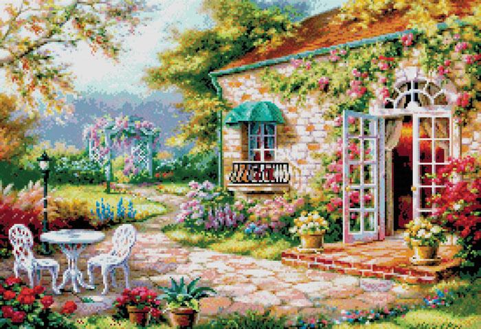 Набор для вышивания крестом Цветущий сад, 59 х 42 см4029-14В наборе для вышивания крестом Цветущий сад есть все необходимое для создания собственного чуда: цветная символьная схема, канва Аида 14 белого цвета (без рисунка), нитки мулине для вышивания, 2 иголки, инструкция. Красивый и стильный рисунок-вышивка, выполненный на канве, выглядит оригинально и всегда модно. Вышивание крестиком отвлечет вас от повседневных забот, и превратится в увлекательное занятие! Работа, сделанная своими руками, создаст особый уют и атмосферу в доме, и долгие годы будет радовать вас и ваших близких.