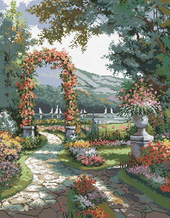 Набор для вышивания Арка в саду, 45 х 57 см4156-14Красивый и стильный рисунок-вышивка, выполненный на канве, выглядит оригинально и всегда модно. В наборе для вышивания Арка в саду есть все необходимое для создания собственного чуда: канва, специальные нити и игла. Работа, сделанная своими руками, создаст особый уют и атмосферу в доме и долгие годы будет радовать Вас и Ваших близких. Ведь вы выполните вышивку с любовью!