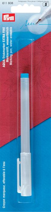 Аква-маркер Prym, цвет: бирюзовый, размер S611808Аква-маркер Prym стержень бирюзового цвета, следы от него удаляются при помощи воды. Стержень при нанесении оставляет очень тонкий след.