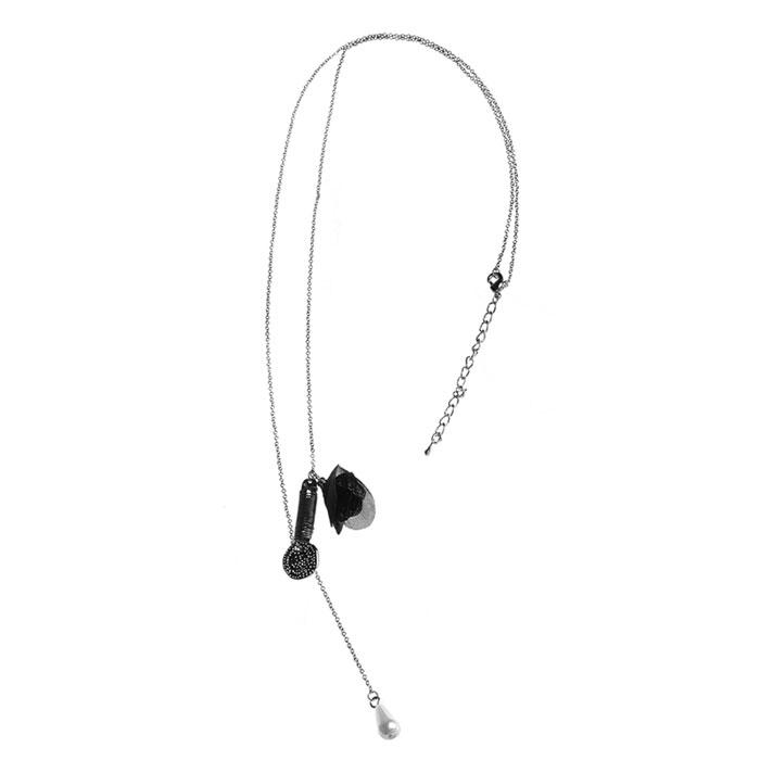 Колье Marmalato, цвет: серебряный. 3623436234Колье, состоящее из прочной цепочки и подвесок, подчеркнет вашу красоту и преобразит даже повседневную одежду. Колье надежно застегивается на замок-карабин. Надев его, вы всегда будете в центре внимания.