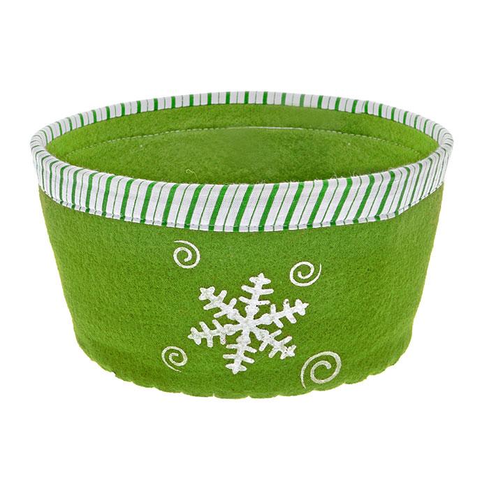 Сухарница House & Holder, цвет: зеленый. 117003117003Оригинальная сухарница House & Holder Снежинка, выполненная из фетра, декорирована отстрочкой и текстильной окантовкой по краю, а также рисунком снежинки. Сухарница станет необычным дополнением к праздничному столу, послужит приятным и полезным сувениром для близких и родных.