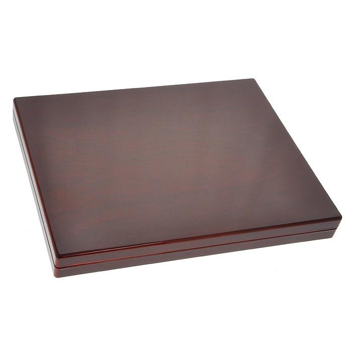 Кассета для монет Piano для монетных капсул Quadrum, 20 ячеек337934Высококачественная кассета для монет Piano предназначена для хранения 20 монетных капсул Quadrum. Кассета содержит вкладыш с поверхностью под велюр, с квадратными отделениями, подушка на крышке обита черным сатином. Кассета имеет зеркально-глянцевую лакировку и выполнена в цвете красное дерево.