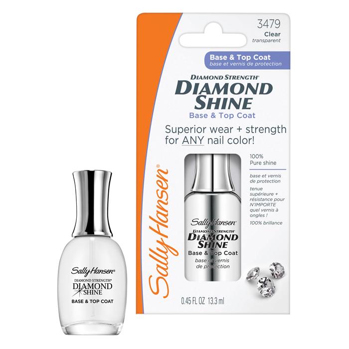 Sally Hansen Средство Diamond Shine 2 в 1, база и верхнее покрытие, 13,3 мл30072526000Sally Hansen Diamond Shine - средство 2 в 1 - база и верхнее покрытие. Уникальное средство с микровключениями алмазов эффективно укрепляет и защищает ваши ногти, придает им красивый, ухоженный вид и элегантный бриллиантовый блеск. 100% сияние и стойкость лака до 10 дней. Предназначен для слоящихся, ломких и потрескавшихся ногтей. Формула «жидких алмазов» является быстросохнущим средством для предотвращения отслаивания лака и продления его стойкости до 10 дней. Ногти становятся гладкими и ровными. Можно использовать как основу, верхнее покрытие или самостоятельно. Характеристики: Объем: 13,3 мл. Артикул: 3479. Производитель: США. Товар сертифицирован.