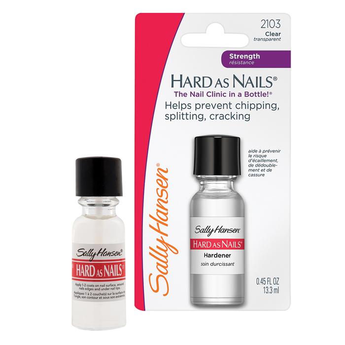 Sally Hansen Средство для ногтей Hard As Nails, укрепляющее, 13,3 мл30003237301Средство Sally Hansen Hard As Nails. Helps Strengthen Nails рекомендуется для ломких, растрескивающихся и слабых ногтей. Придает ногтям твердость, предотвращает ломкость, способствует их укреплению. Благодаря данному средству края ногтей уплотняются для дополнительной защиты от трещин и ломкости. Средство Hard As Nails. Helps Strengthen Nails дает ногтям долговременную защиту и помогает им расти. Товар сертифицирован.