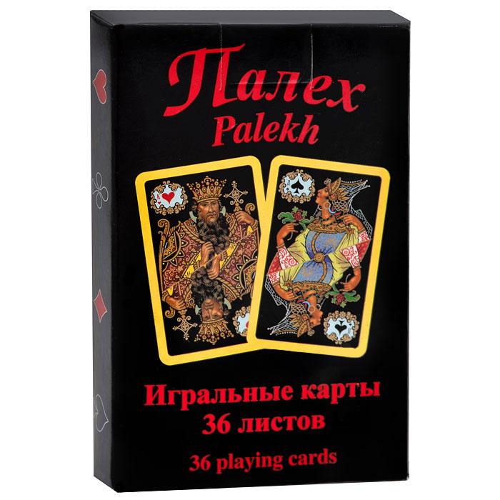Карты игральные Piatnik Палех, 36 карт4211В основу оформления колоды легли изображения палеховской лаковой миниатюры, выполненной на папье-маше. Игральные карты Палех доставят вам удовольствие от игры.