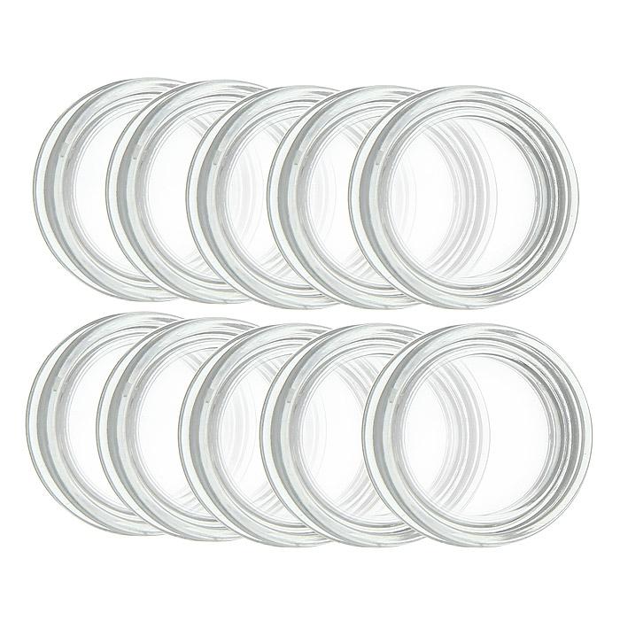 Капсулы для монет Leuchtturm, диаметр 19 мм, 10 шт337551Капсулы для монет Leuchtturm помогут сохранить каждую монету из вашей коллекции и обеспечат надежную защиту от воздействий окружающей среды. Капсулы изготовлены и высококачественного, особо устойчивого к механическим повреждениям полистирола. Плотно закрываются и в то же время легко открываются.