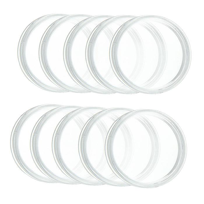 Капсулы для монет Leuchtturm, диаметр 33 мм, 10 шт320931Капсулы для монет Leuchtturm помогут сохранить каждую монету из вашей коллекции и обеспечат надежную защиту от воздействий окружающей среды. Капсулы изготовлены и высококачественного, особо устойчивого к механическим повреждениям полистирола. Плотно закрываются и в то же время легко открываются.