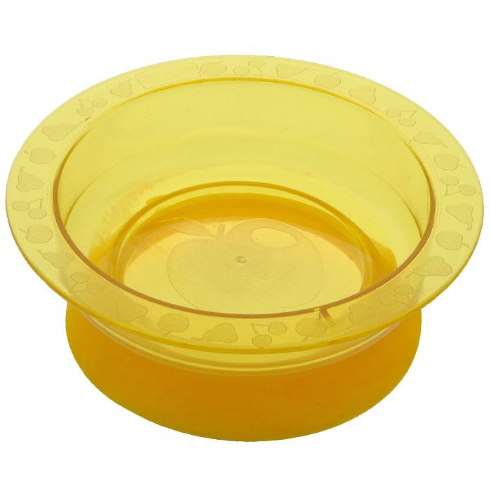 Тарелка на присоске Курносики, цвет: желтый17308Пластиковая тарелочка Курносики желтого цвета с удобной присоской, идеально подойдет для кормления малыша, и самостоятельного приема им пищи. Специальное резиновое кольцо-присоска фиксирует тарелочку на столе, благодаря чему она не упадет, еда не прольется, а ваш малыш будет доволен. Характеристики: Материал: пластик, ПВХ. Рекомендуемый возраст: от 5 месяцев. Высота тарелки: 5 см. Внешний диаметр тарелки: 17,5 см. Внутренний диаметр тарелки: 14 см Диаметр присоски: 14 см.