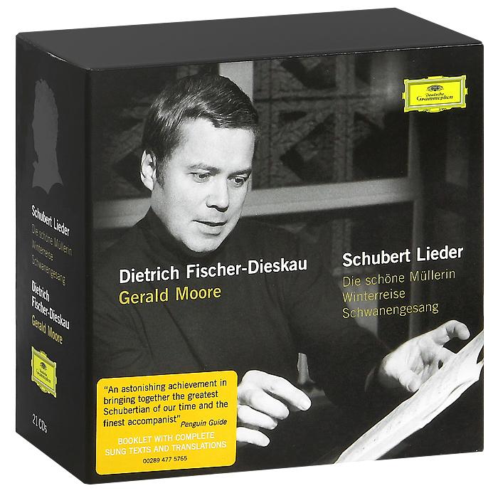 Dietrich Fischer-Dieskau, Gerald Moore. Schubert. Lieder. Die Schone Mullerin / Winterreise / Schwanengesang (21 CD)