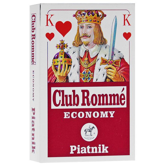 Карты игральные профессиональные Piatnik Club Romme, 55 карт1171Карты Club Romme подходят для профессиональной игры в бридж и другие карточные игры, так как имеют очень гладкую поверхность, покрытие из пластика и стандартный размер.