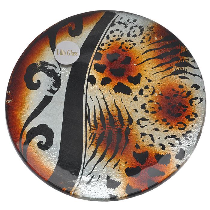 Блюдо Lillo Glass, диаметр 18 см. LIL 1280-2LIL 1280-2Оригинальное блюдо Lillo Glass, изготовленное из высококачественного стекла, оформлено оригинальным рисунком леопардовой расцветки. Такое блюдо станет достойным украшением праздничного стола или интерьера и придаст нотки необычности и изысканности. Блюдо можно преподнести в качестве оригинального подарка или сувенира.