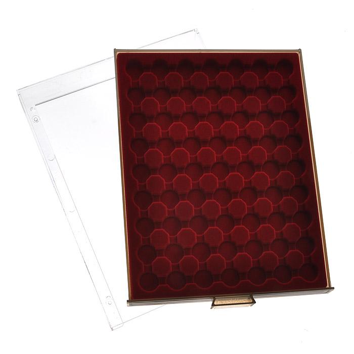 Кассета для монет Leuchtturm, 63 ячейки. 80958095Кассета Leuchtturm предназначена для надежного хранения и оптимальной защиты ваших монет, а также превосходный способ их презентации. Кассета выполнена из пластика с прозрачной рамкой и вставкой из красного бархата. Подходит для шкафов стандартной глубины. Представленная кассета для монет станет прекрасным подарком для коллекционера-нумизмата! Нумизматика в качестве науки зародилась более 500 лет назад, когда впервые появилась необходимость собирать монеты мира для сохранения исторических знаний. Огромное разнообразие монет, существующих на данный момент во всем мире, дает безграничную свободу для составления тематических коллекций.