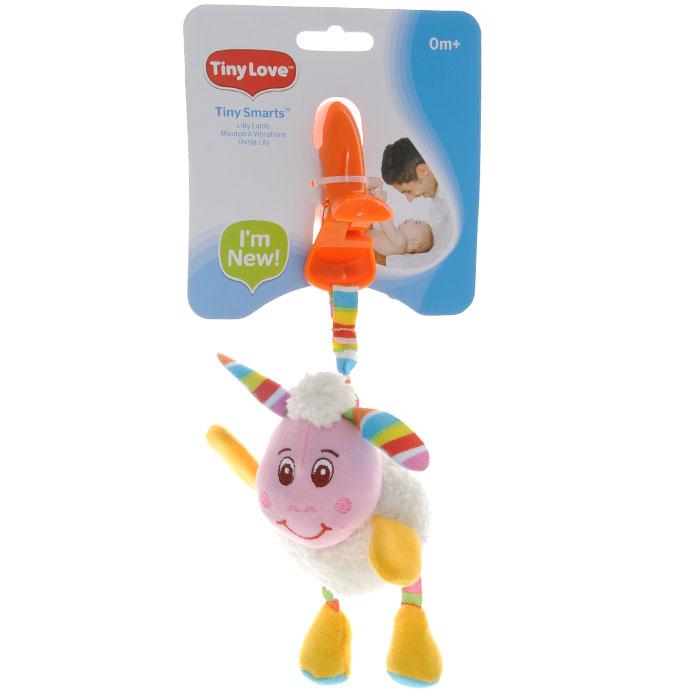 Мягкая игрушка-подвеска Tiny Love Овечка Лили1107600458Мягкая игрушка-подвеска Tiny Love Овечка Лили выполнена из текстильного материала различных цветов и фактур в виде забавной овечки. Лапки овечки содержат шуршащий элемент, внутри головы игрушки спрятана сфера, мягко гремящая при тряске. К овечке крепится текстильная веревочка. Если игрушку потянуть вниз, то она начнет вибрировать до тех пор, пока веревочка не вернется в исходное положение. С помощью пластиковой прищепки игрушку легко можно прикрепить к кроватке, коляске или игровой дуге малыша. Игрушка-подвеска Овечка Лили поможет ребенку в развитии цветового и звукового восприятия, мелкой моторики рук, координации движений и тактильных ощущений.