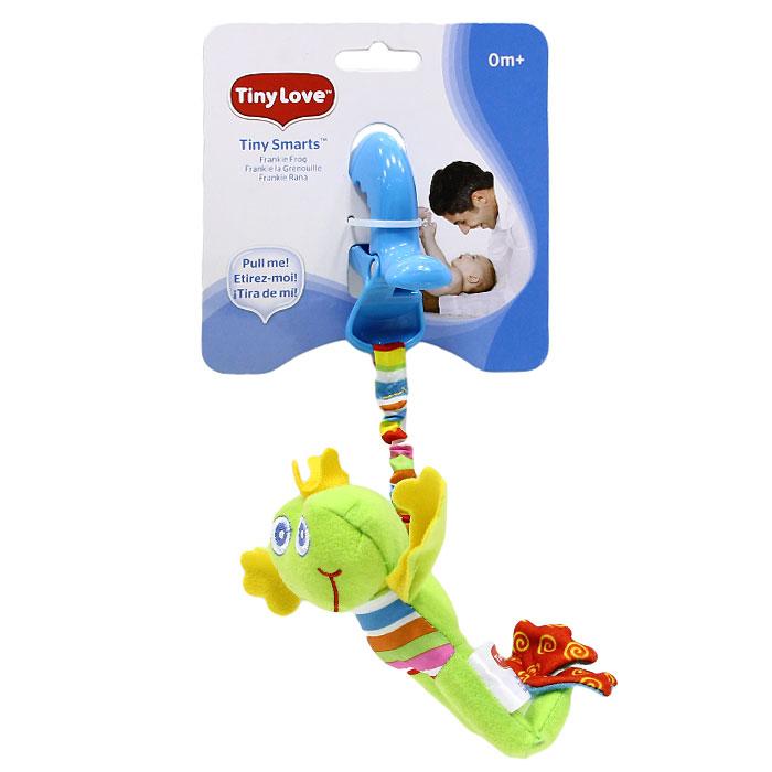 Мягкая игрушка-подвеска Лягушонок Френки1106400046Мягкая игрушка-подвеска Лягушонок Френки выполнена из текстильного материала различных цветов и фактур в виде светло-зеленого лягушонка с короной на голове. Задние лапки лягушонка содержат шуршащий элемент, внутри головы игрушки спрятана сфера, мягко гремящая при тряске. К лягушонку крепится текстильная веревочка. Если игрушку потянуть вниз, то она начнет вибрировать до тех пор, пока веревочка не вернется в исходное положение. С помощью пластиковой прищепки игрушку легко можно прикрепить к кроватке, коляске или игровой дуге малыша. Игрушка подвеска Лягушонок Френки поможет ребенку в развитии цветового и звукового восприятия, мелкой моторики рук, координации движений и тактильных ощущений. Характеристики: Рекомендуемый возраст: от 0 месяцев. Материал: текстиль, пластик. Размер игрушки с учетом прищепки: 23 см х 15 см х 5 см. Изготовитель: Китай.