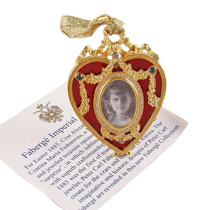Фоторамка Сердце. Металл, эмаль, позолота, австрийские кристаллы. Фаберже, 90-е гг. XX века
