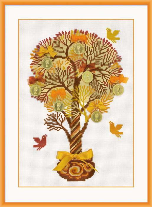 """Набор для вышивания """"Денежное дерево"""", 21 см х 30 см"""