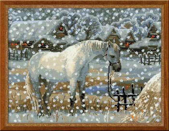 Набор для вышивания Снежная зима, 40 см х 32 см1245Красивый и стильный рисунок-вышивка, выполненный на канве, выглядит оригинально и всегда модно. В наборе для вышивания Снежная зима есть все необходимое для создания собственного чуда: канва, специальные нити, игла и схема рисунка. Работа, сделанная своими руками, создаст особый уют и атмосферу в доме и долгие годы будет радовать вас и ваших близких. Ведь вы выполните вышивку с любовью!