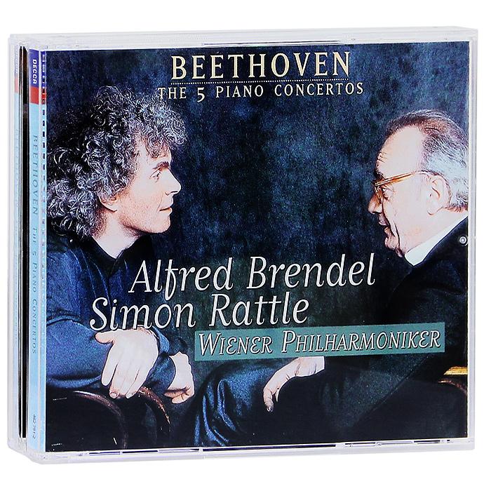 Alfred Brendel, Simon Rattle, Wiener Philharmoniker. Beethoven. The 5 Piano Concertos. Brendel (3 CD)