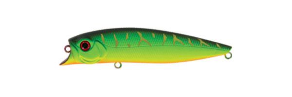 Воблер Tsuribito Jerk POP, длина 11 см, вес 14,4 г. 110F/028110F/028Воблер Tsuribito Jerk POP необычная, но очень результативная приманка. При небольших рывках отлично имитирует подраненную рыбку. При остановках приманка выходит на поверхность, а при рывках уходит на полметра. Эти качества позволяют эффективно ловить рыбу в мелководных заливах над зарослями травы. Характеристики: Материал: металл, пластик. Длина: 11 см. Вес: 14,4 г. Цвет тела: 028 Рабочая глубина: 0,5 - 0,8 м. Плавучесть - плавающий. Размер упаковки: 16,3 см х 4 см х 2,8 см. Производитель: Япония. Артикул: 110F/028.