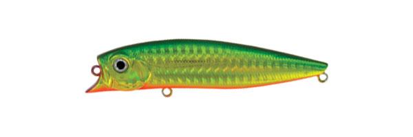 Воблер Tsuribito Jerk POP, длина 11 см, вес 14,4 г. 110F/036110F/036Воблер Tsuribito Jerk POP необычная, но очень результативная приманка. При небольших рывках отлично имитирует подраненную рыбку. При остановках приманка выходит на поверхность, а при рывках уходит на полметра. Эти качества позволяют эффективно ловить рыбу в мелководных заливах над зарослями травы.