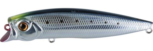 Воблер Tsuribito Jerk POP, длина 11 см, вес 14,4 г. 110F/060110F/060Воблер Tsuribito Jerk POP необычная, но очень результативная приманка. При небольших рывках отлично имитирует подраненную рыбку. При остановках приманка выходит на поверхность, а при рывках уходит на полметра. Эти качества позволяют эффективно ловить рыбу в мелководных заливах над зарослями травы.