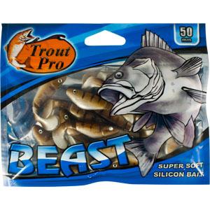 Риппер Trout Pro Beast, длина 5 см, 20 шт. 3515635156Риппер предназначен для джиговой ловли хищной рыбы: окуня, судака, щуки. Специальная пластина на тонком основании делает приманку более гибкой и подвижной, что придает ей усиленные колебательные движения.