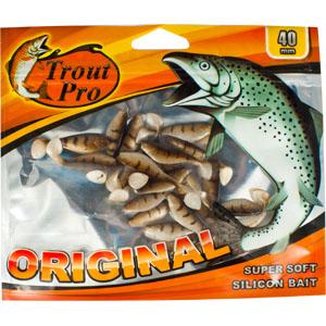 Риппер Trout Pro Original, длина 4 см, 20 шт. 3521935219Приманка предназначена для джиговой ловли хищной рыбы: окуня, судака, щуки. Специальная пластина придает приманке колебательные движения, усиливая ее сходство с живой рыбкой.