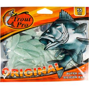 Риппер Trout Pro Original, длина 5,5 см, 20 шт. 3524535245Приманка предназначена для джиговой ловли хищной рыбы: окуня, судака, щуки. Специальная пластина придает приманке колебательные движения, усиливая ее сходство с живой рыбкой.