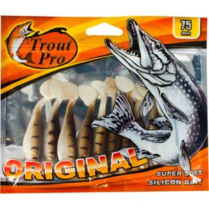 Риппер Trout Pro Original, длина 7,5 см, 10 шт. 3526835268Приманка предназначена для джиговой ловли хищной рыбы: окуня, судака, щуки. Специальная пластина придает приманке колебательные движения, усиливая ее сходство с живой рыбкой.